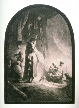 The Raising of Lazarus: the larger plate