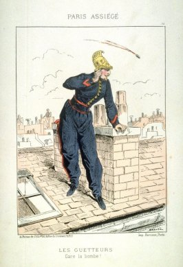 Les guetteurs (The Lookouts), pl. 15 from the series Paris assiégé, scènes de la vie parisienne pendant le siège (Paris Besieged, Scenes of Parisian Life during the Siege)