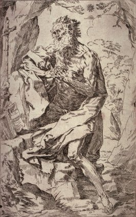 St. Jerome, after the etching by Guido Reni after his painting in the Kunsthistorisches Museum, Vienna