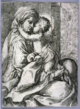 Virgin and Child, copy in reverse after Guido Reni