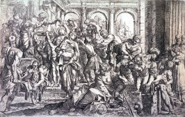 St. Roche Distributing Alms, after the painting by Annibale Carracci in Dresden