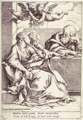 Holy Family with Two Angels