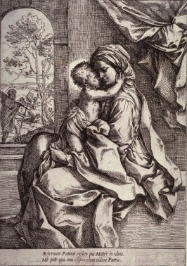 The Madonna and Child with St. Joseph in the Background