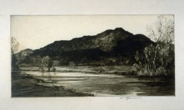 Untitled (lanscape with mountain)