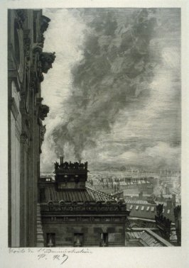 Toits de l'adminstration (Rooftops of the Administration Building) twenty-fifth plate from the series Le nouvel Opéra