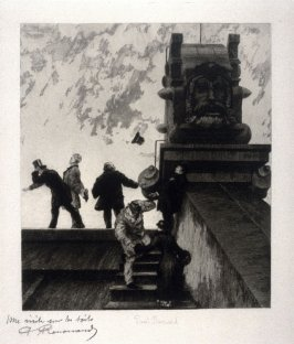 Une visite sur les toits (A Visit to the Rooftops), fifth plate from the series, Le nouvel Opéra