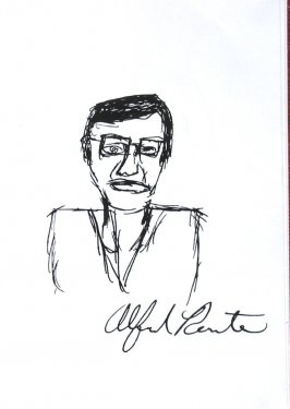 Untitled (Self-portrait by Alfred Rente[?]), Illustration 5 in the book Sketchbook (Sun Valley, Idaho)