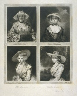 Lady H. Fenhoulet, Lady C. Chambers, Miss Bingham and Countess Spencer