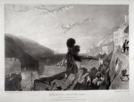 Plate 15: Dartmouth on the River Dart, from the series 'The Rivers of England' (1823-1827)
