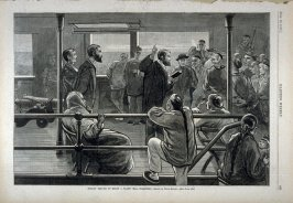 Sunday Service on Board a Pacific Mail Steam-ship - p.461 Harper's Weekly, 16 June 1877