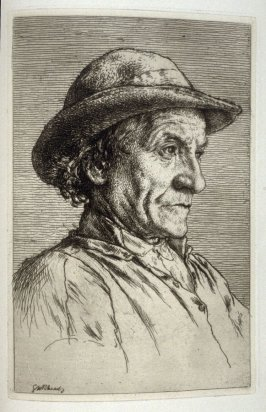 A Breton Peasant, plate 21 in the book, The Etcher (London: Sampson Low…, 1880), vol. 2 [bound in same volume as vol. 1, 1879]