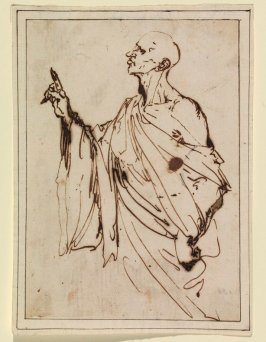 Study of a Man with Upraised Hand (Orator ?)