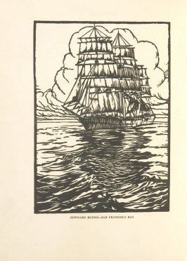 Outward Bound—San Francisco Bay, Illustration 2 in the book Block Printing in the School by William Seltzer Rice