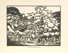 Pear and Wistaria Bloom, Illustration 4 in the book Block Printing in the School by William Seltzer Rice