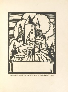 The Castle, Illustration 5 in the book Block Printing in the School by William Seltzer Rice