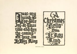 Christmas Cards, Illustration 11 in the book Block Printing in the School by William Seltzer Rice
