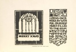 Christmas and New Year Cards, Illustration 13 in the book Block Printing in the School by William Seltzer Rice