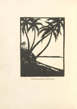 Hawaiian Palms, Illustration 16 in the book Block Printing in the School by William Seltzer Rice