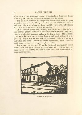 Street in Monterey, Illustration 18 in the book Block Printing in the School by William Seltzer Rice