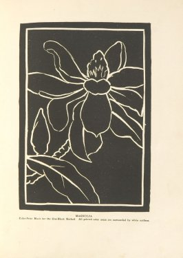 Magnolia, Illustration 19 in the book Block Printing in the School by William Seltzer Rice