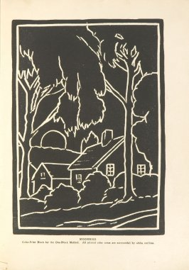 Moonrise, Illustration 20 in the book Block Printing in the School by William Seltzer Rice