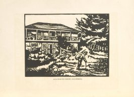 Old Spanish House—California, Illustration 21 in the book Block Printing in the School by William Seltzer Rice