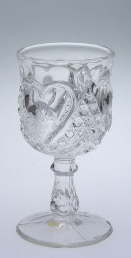 Wine glass Heart with Thumbprint or Columbia