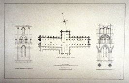 Whitby Abbey: Plan and Details, fourth plate opposite p. 16, and seventh plate in the book, The Monastic Ruins of Yorkshire by Edward Churton (York: Robert Sunter,[ ca. 1855])