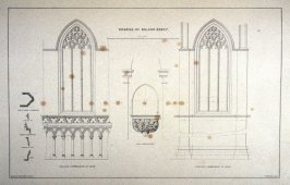 Bolton Abbey: Details, third plate opposite page 60, and forty-fourth plate in the book, The Monastic Ruins of Yorkshire (York: Robert Sunter, 1843-[1855])