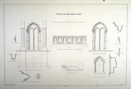Egglestone Abbey: Details, second plate opposite page 74, and sixty-first plate in the book, The Monastic Ruins of Yorkshire (York: Robert Sunter, 1843-[1855])