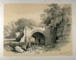 Roche Abbey: Gateway, on page [41], and twenty-fourth plate in the book, The Monastic Ruins of Yorkshire (York: Robert Sunter, 1843-[1855])