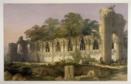 St. Mary's Abbey, York: North Side of Nave, first plate opposite page 26, and thirteenth plate in the book, The Monastic Ruins of Yorkshire by Edward Churton (York: Robert Sunter,[ ca. 1855])
