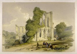 Rievaulx Abbey: East End, on page [28], and sixteenth plate in the book, The Monastic Ruins of Yorkshire (York: Robert Sunter, 1843-[1855])