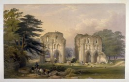 Roche Abbey: West View, first plate opposite page 44, and twenty-fifth plate in the book, The Monastic Ruins of Yorkshire (York: Robert Sunter, 1843-[1855])