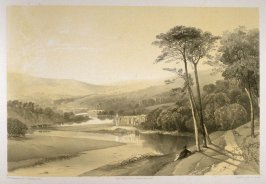 Bolton Abbey: View, on page [59], and forty-first plate in the book, The Monastic Ruins of Yorkshire (York: Robert Sunter, 1843-[1855])