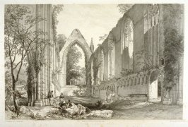 Bolton Abbey: The Choir, first plate opposite page 60, and forty-second plate in the book, The Monastic Ruins of Yorkshire (York: Robert Sunter, 1843-[1855])