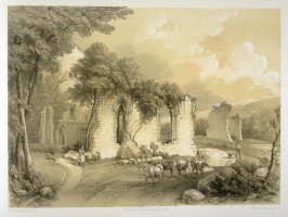 Monk Bretton Priory: Wall with Windows, on page [69], and fifty-seventh plate in the book, The Monastic Ruins of Yorkshire (York: Robert Sunter, 1843-[1855])