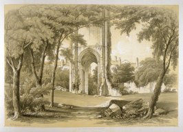 Grey Friars, Richmond: Tower, on page [77], and sixty-sixth plate in the book, The Monastic Ruins of Yorkshire (York: Robert Sunter, 1843-[1855])