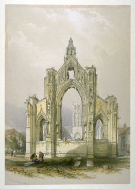 Howden: East End of Church, first plate opposite page 81,and sixty-ninth plate in the book, The Monastic Ruins of Yorkshire (York: Robert Sunter, 1843-[1855])