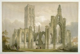Howden: South Side of Church, second plate opposite page 81,and seventieth plate in the book, The Monastic Ruins of Yorkshire (York: Robert Sunter, 1843-[1855])