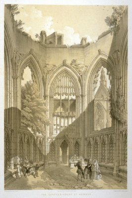 Howden: The Chapter House, fourth plate opposite page 81,and seventy-second plate in the book, The Monastic Ruins of Yorkshire (York: Robert Sunter, 1843-[1855])