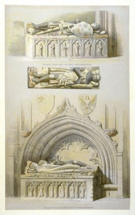 Howden: Tombs in the Saltmarsh Chapel, fifth plate opposite page 81,and seventy-third plate in the book, The Monastic Ruins of Yorkshire (York: Robert Sunter, 1843-[1855])
