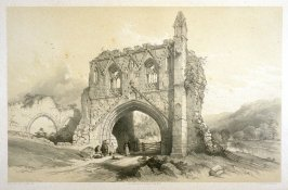 Kirkham Priory: Gateway , first plate opposite page 80*,and seventy-sixth plate in the book, The Monastic Ruins of Yorkshire (York: Robert Sunter, 1843-[1855])
