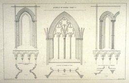 Whitby Abbey: Detail, third plate opposite p. 16, and sixth plate in the book, The Monastic Ruins of Yorkshire by Edward Churton (York: Robert Sunter,[ ca. 1855])