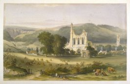 Byland Abbey: Southeast View, second plate opposite page 48, and twenty-ninth plate in the book, The Monastic Ruins of Yorkshire (York: Robert Sunter, 1843-[1855])