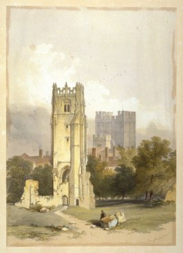 Grey Friars, Richmond: Tower Town, and Castle, plate opposite page 78, and sixty-seventh plate in the book, The Monastic Ruins of Yorkshire (York: Robert Sunter, 1843-[1855])