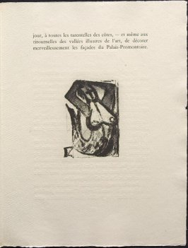 Untitled, pg. 119, in the book Une Saison en Enfer les déserts de l'amour les illuminations by Arthur Rimbaud (Lausanne: André et Pierre Gonin, 1951)