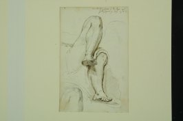 Collection of the Legs of the Figure of Day by Michaelangelo (recto); Untitled (misc. figures) (verso)