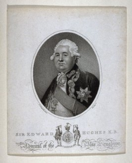 Sir Edward Hughes, Admiral of the Blue Squadron