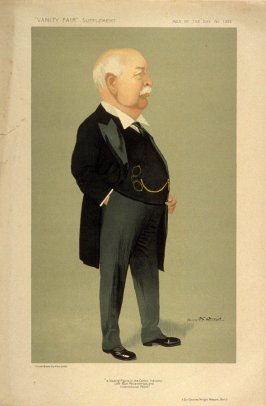 """""""a leading Figure in the Cotton Industry Life Boat Philanthropy, and International Peace"""" (Sir CHarles Wright Macara, Bart.), Men of the Day No. 1322, from Vanity Fair Supplement"""